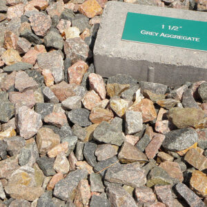 Grey Aggregate 1.5″, or 3/4″