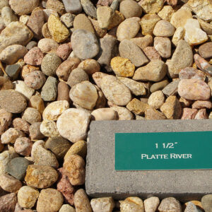 Platte River Rock 1.5″, or 3/4″
